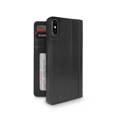 Twelve South Journal Leather Wallet Black Case For iPhone X/XS