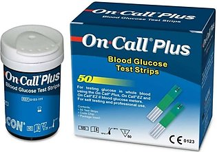 On Call Plus Glucometer Strips - 50 Strips