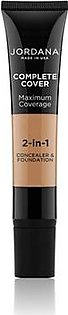 Jordana Complete Cover 2 In 1 Concealer & Foundation - Golden Olive (08)