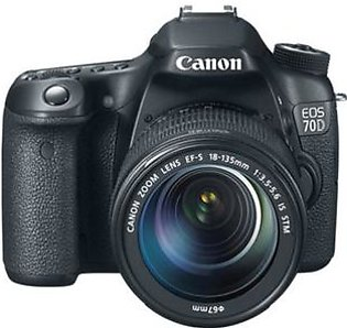 Canon EOS 70D DSLR Camera with 18-135mm STM Lens