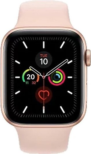 Apple Watch Series 5 44mm Gold Aluminum Case with Sandy Pink Sport Band - GPS...
