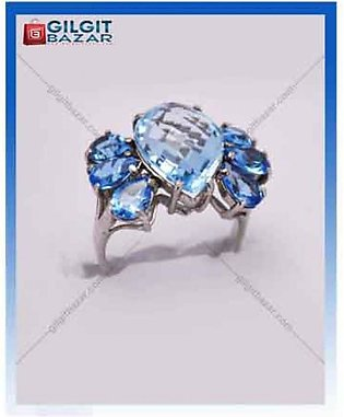 Gilgit Bazar Golden Topaz Stone Ring For Women (GB1148)
