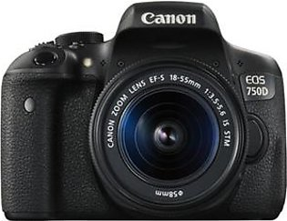 Canon EOS 750D DSLR Camera With 18-55mm IS STM Lens