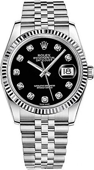Rolex Datejust 36 Men's Watch Silver (116234-BLKDFJ)