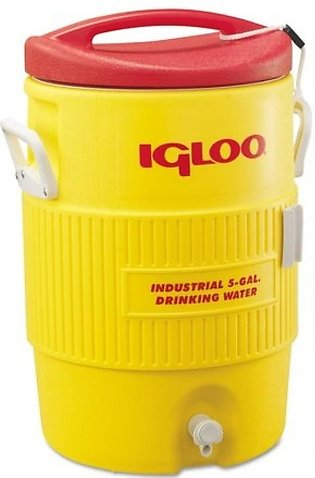 Igloo 400 Series 5 Gallon Heavy Duty Water Cooler Yellow (00451)