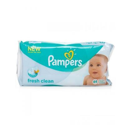 Pampers Fresh Clean Baby Wipes (64 Pcs)