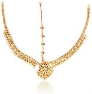 SaharCollection4u Matha Patti Golden For Women