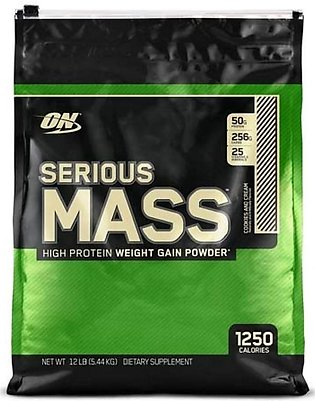 ON Optimum Nutrition Serious Mass High Weight Gain Protein Powder Cookies And...