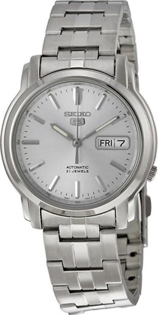 Seiko 5 Men's Watch Silver (SNKK65)