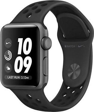 Apple iWatch Nike+ Series 3 38mm Space Gray Aluminum Case With Anthracite/Bla...