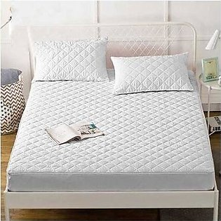 Maguari King Quilted Mattress Protector White (0259)