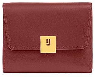 Compact Wallet - Maroon Gold