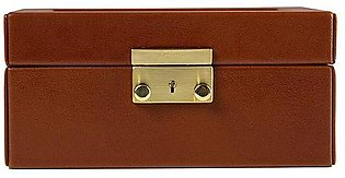 Watch Case for two (2) - Dark Tan Gold