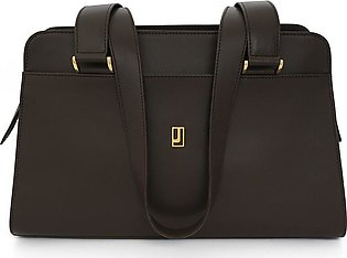 Classic Nappa Handbag - Dark Brown Gold
