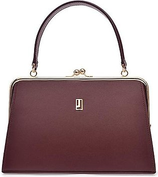 Evening bag - Maroon Gold