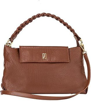 Soft Leather Handbag - Brown Gold