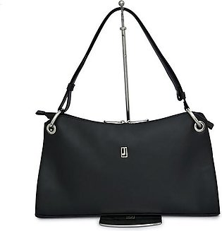 Shoulder Bag Nappa Leather - Black Silver
