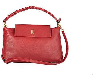 Soft Leather Handbag - Red Gold