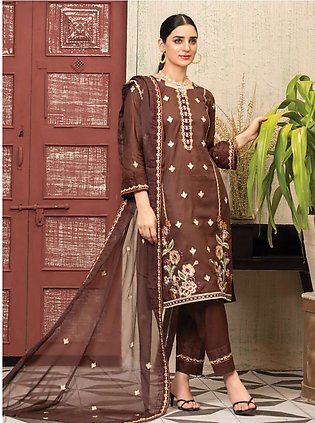 MTF – UNIQUE STYLE   EMBROIDERED LAWN COLLECTION 2021   MUS-05
