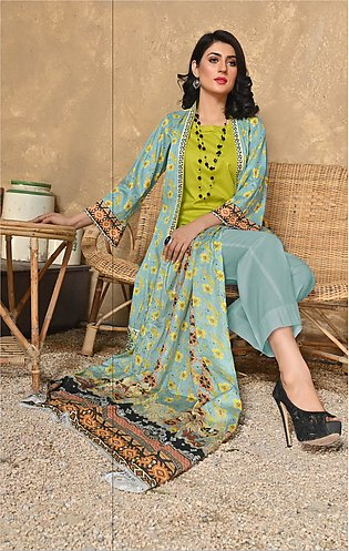 Maan Suraya Lawn Shirt with Embroidered Voile Dupatta Mother's Collection Esita…