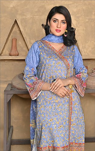 Maan Suraya Lawn Shirt with Embroidered Voile Dupatta Mother's Collection Emel …