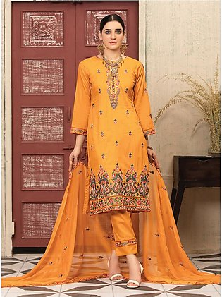 MTF – UNIQUE STYLE   EMBROIDERED LAWN COLLECTION 2021   MUS-04