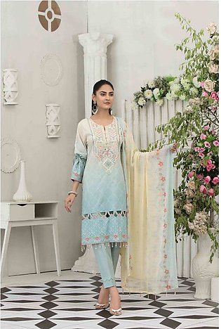 TAWAKKAL Raqami Embroidered Lawn Collection – D-1605