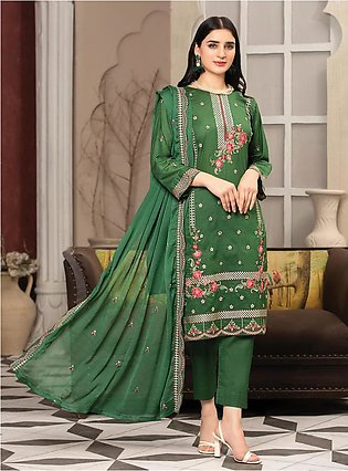 MTF – UNIQUE STYLE   EMBROIDERED LAWN COLLECTION 2021   MUS-02