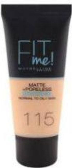 Maybelline Fit Me Matte & Poreless Foundation - 115 Ivory - 1449 - 3600531324513