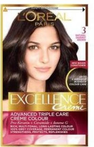 L`Oreal Excllence 3 Dark Chestnut Brown - 0005 - 3061375115017