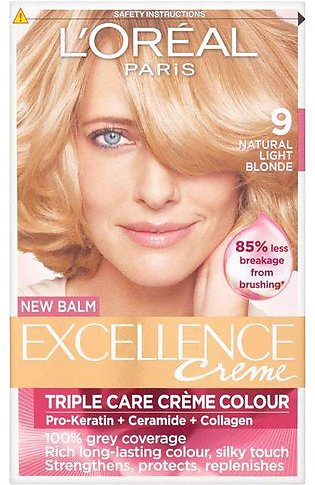 L'Oreal Excellence Creme Hair Colour - 9 Very Light Blonde - 0951 - 36005224903…