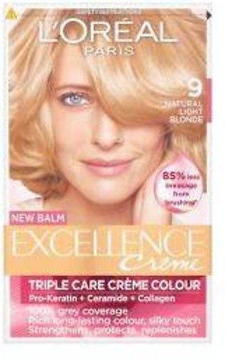 L'Oreal Excellence Creme Hair Colour - 9 Very Light Blonde - 0951 - 360052249...