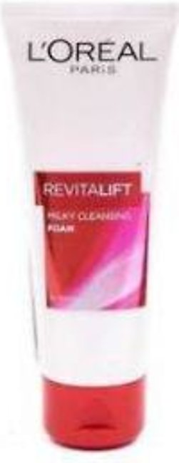 L'Oreal Revitalift Milky Cleansing Foam Face Wash - 100ml - 0295 - 8991380232162