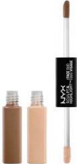NYX Sculpt & Highlight Face Duo - SHFD01 Taupe/Ivory -  0.17fl.oz./5.3ml - US