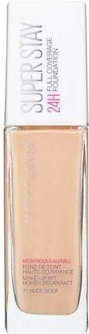 Maybelline Superstay 24H Full Coverage Liquid Foundation - 21 Nude Beige - 1610…