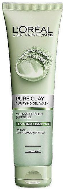 L'Oreal Pure Clay Eucalyptus Purifying Face Wash - Green - 130ml - US