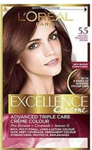 L`Oreal Excllence 5.5 Light Mahogany Brown - 0012 - 3061375277012