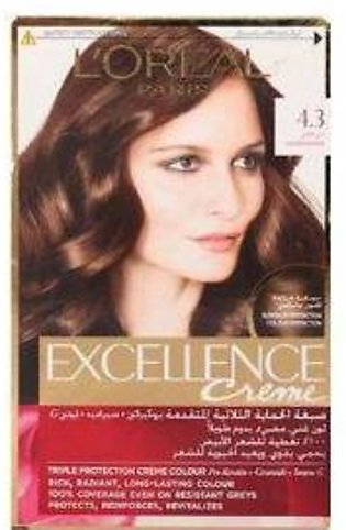 L`Oreal Excllence 4.3 Golden Brown - 0008 - 3061375130010