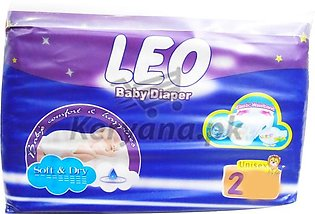 Leo Baby Diapers Soft & Dry   Size 2 (32 Pcs)