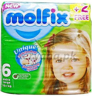 Molfix Baby Diapers Extra Large Size 6 52 Pcs