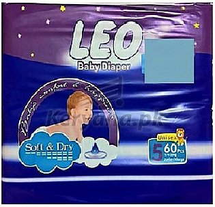 Leo Baby Diapers Soft & Dry Size 5 (60)Pcs