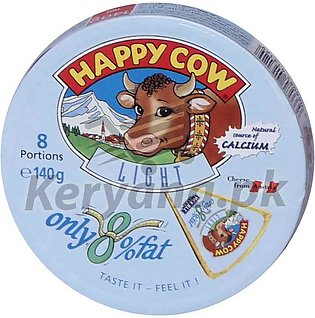 Happy Cow Light Cheese 8 Portions 140 G