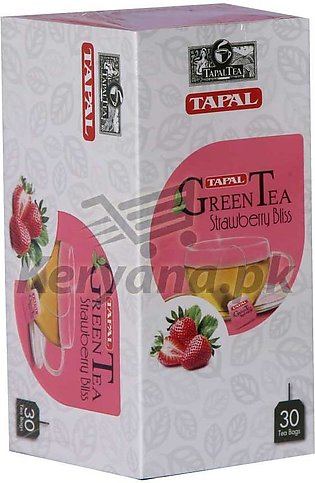 Tapal Green Tea Bags   30 Tea Bags   Strawberry Bliss