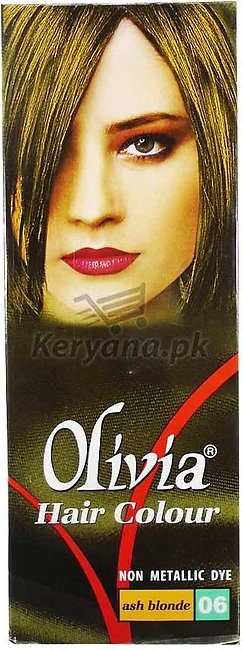 Olivia Hair Color Ash Blonde 06   50 ML