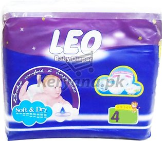 Leo Baby Diapers Soft & Dry   Size 4 (72 Pcs)