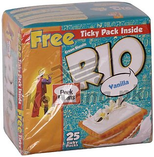 Peek Freans Rio Chocolate & Vanilla 25 Ticky Pack   1 Free Inside