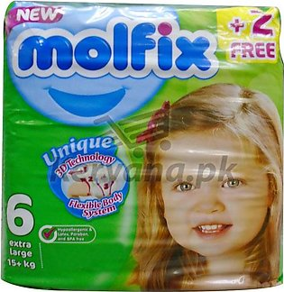 Molfix Baby Diapers Extra Large Size 6 24 Pcs