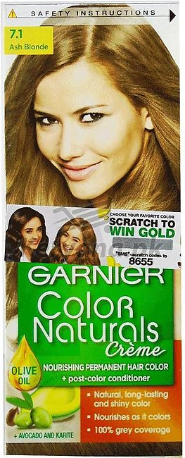 Garnier Hair Colour Ash Blonde 7.1