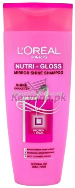 Loreal Paris Shampoo Nutri Gloss  360 ML   Mirror Shine