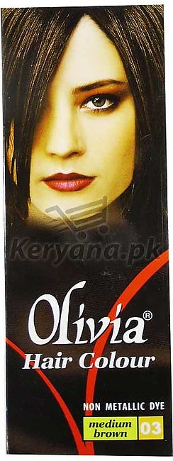 Olivia Hair Color Medium Brown 03   50 ML